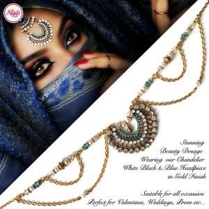 Madz Fashionz USA: Beauty Dosage Crystal Headpiece Matha Patti Hair Jewellery