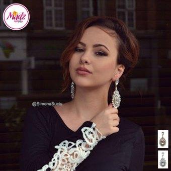 Madz Fashionz USA: Simona Suciu Kundan Bridal Stud Earrings Gold White