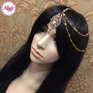 Madz Fashionz USA: Hanifa Gold White Bespoke Bridal Kundan Side Tikka