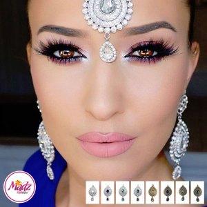 Madz Fashionz USA: Vjosamua Bridal Chandelier Headpiece Earrings Set