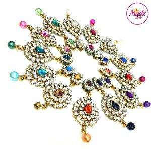 Madz Fashionz UK: Eleineofficial Exquisite Nawab Matha Patti Nath Set Gold Pendants colours available