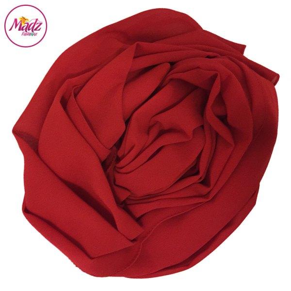 Madz Fashionz UK: Long Maxi Plain Chiffon Red Muslim Hijabs Scarves Shawls