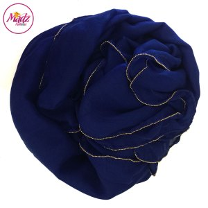 Madz Fashionz UK: Long Maxi Plain Luxury Cotton Pellet Royal Blue Muslim Hijabs Scarves Shawls