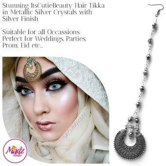 Madz Fashionz UK: ItsCutieBeauty Kundan Tikka Headpiece Headchain Maang Tikka Silver Metallic