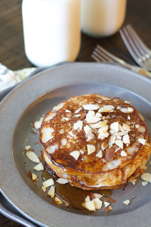 Soft and fluffy gluten free Banana Buttermilk Pancakes are the ultimate weekend breakfast!