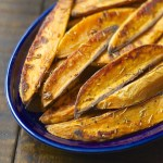 Rosemary Garlic Sweet Potato Wedges