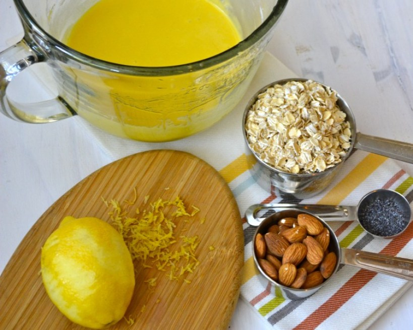 Lemon Granola Bars