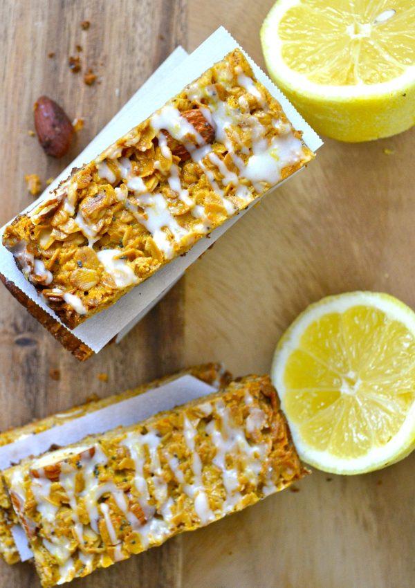 Lemon Poppy Seed Granola Bars
