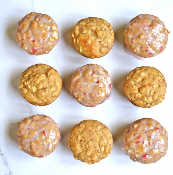 Strawberry Oatmeal Muffins