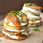 Eggplant Mozzarella Stacks