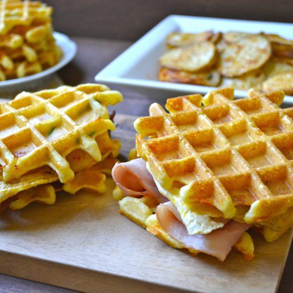 Cornmeal Jalapeno Cheddar Waffles