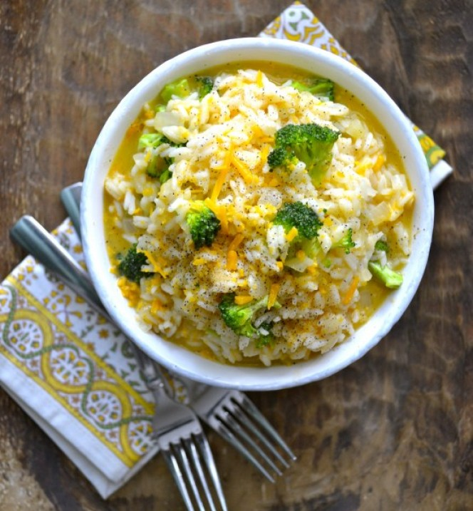 Creamy Cheddar Broccoli Rice