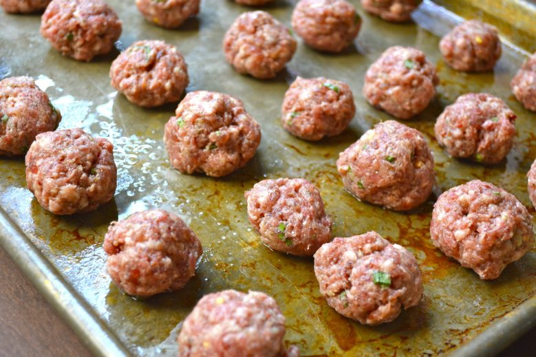 Italian Meatballs with Ricotta and Basil,  super easy freezer meal!