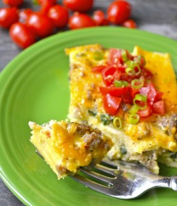 Sausage and Spinach Overnight Breakfast Casserole, super delicious and gluten free!
