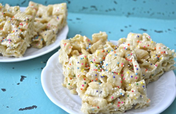 Cake Batter Bars, only 5 ingredients and gluten free!