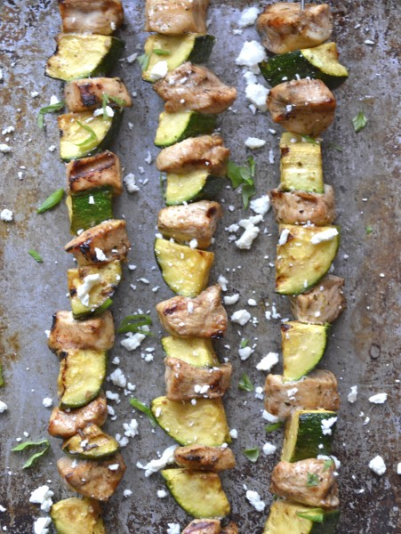 Balsamic Vinegar Chicken and Zucchini Skewers, super simple and healthy!