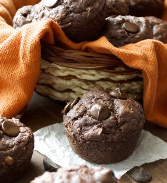 Dark Chocolate Chunk Protein Muffins