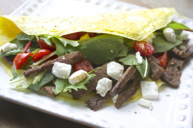 This Steak and Feta Power Omelet is a protein packed keto breakfast that is sure to keep you full for hours!