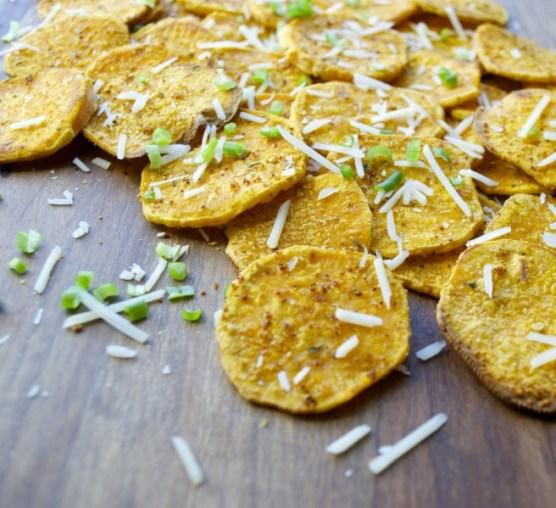 Crispy Garlic Roasted Sweet Potatoes, a perfect side dish!!