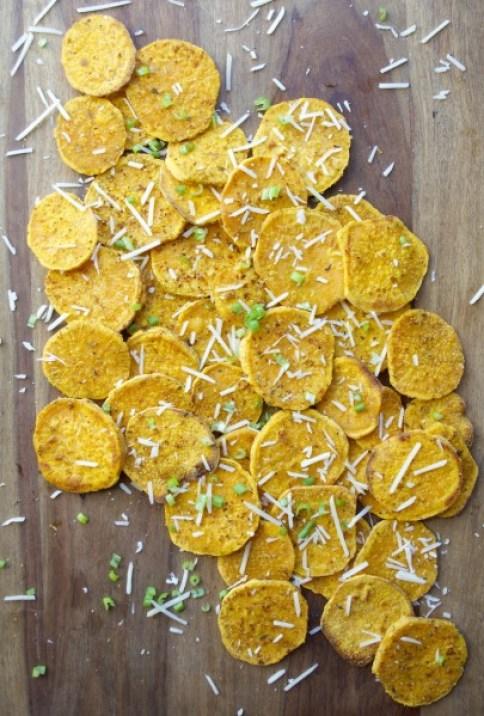 Crispy Garlic Roasted Sweet Potatoes, a perfect savory side dish!