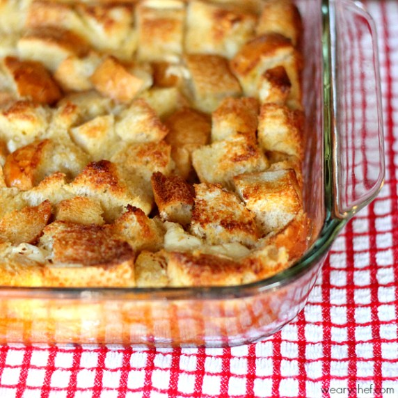 Overnight French Toast Casserole from The Weary Chef