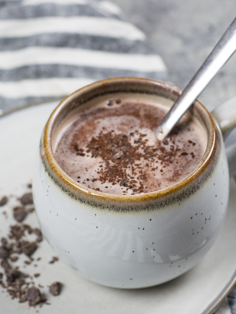 This Hot Cocoa with Espresso Whipped Cream has about 3 net carbs and makes the perfect low carb, keto hot cocoa recipe!