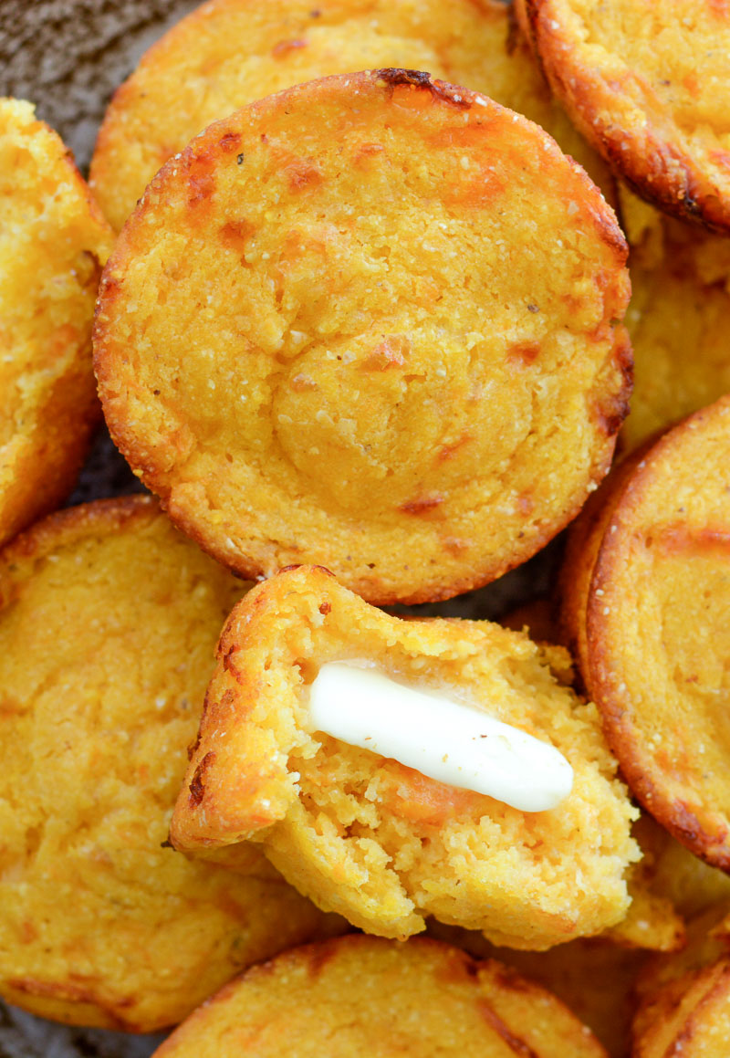 These Sweet Potato and White Cheddar Corn Muffins are extra the perfect combo of sweet and savory! This easy cornbread recipe is perfect for pairing with soups!