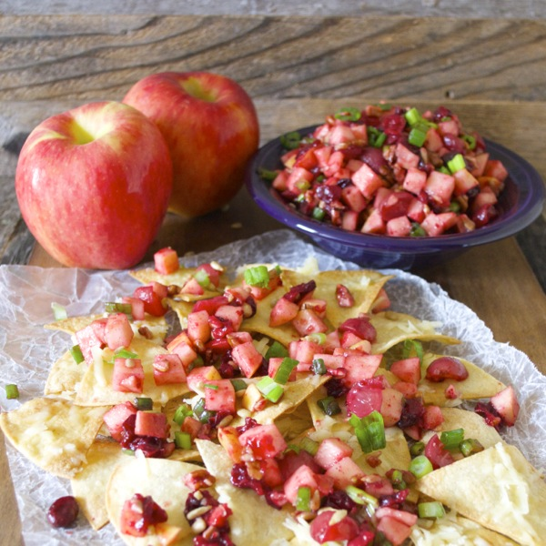 Ambrosia Apple Pico De Gallo, an incredible sweet and savory appetizer! #glutenfree #iloveambrosia www.maebells.com