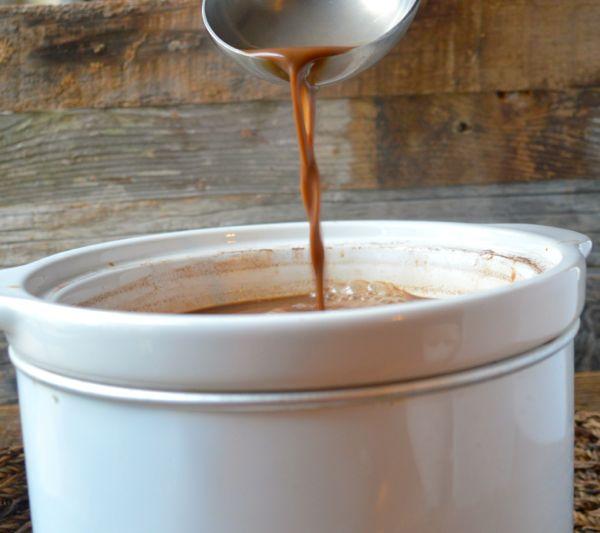 Slow Cooker Peppermint Mocha Cocoa