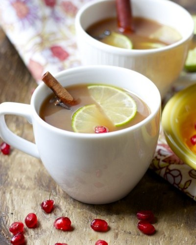 Fruit Spice Tea, three different fruit jucies are simmered with cinnamon sticks and cloves to make a soul soothing tea you will love! www.maebells.com