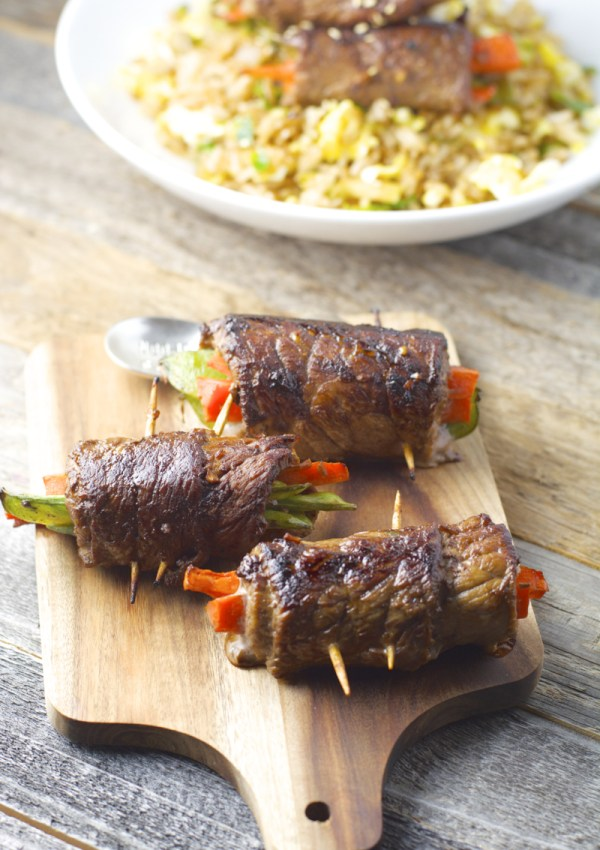 Asian Steak Rolls