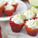 Key Lime Pie Stuffed Strawberries + Video
