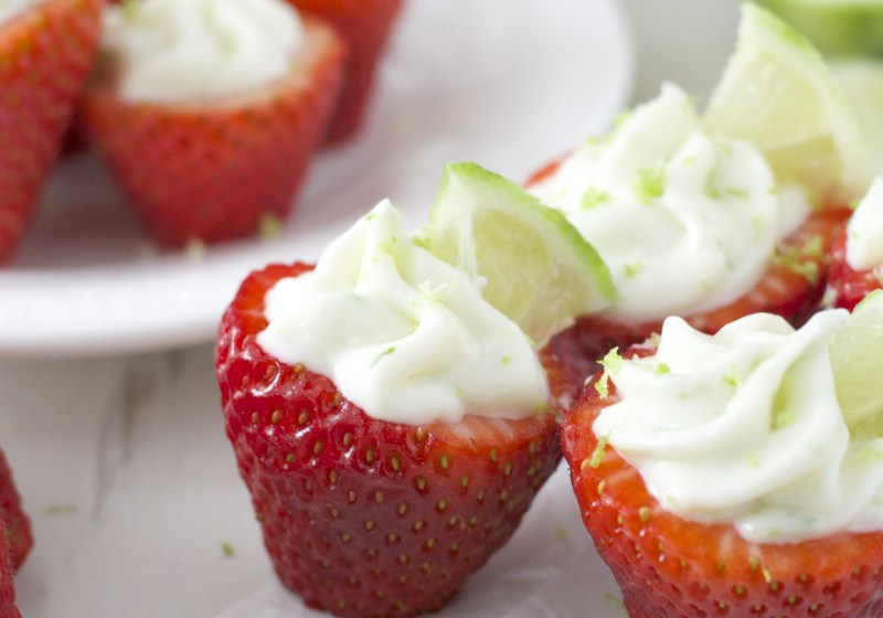 Key Lime Pie Stuffed Strawberries + Video