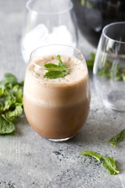 Protein Packed Peppermint Mocha! This drink is so simple, it will be your new favorite!