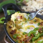 Baked Eggs with Cheese Grits
