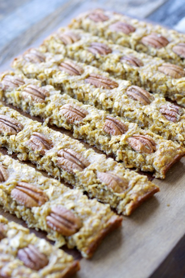 Banana Nut Oatmeal Bars, a simple healthy treat!