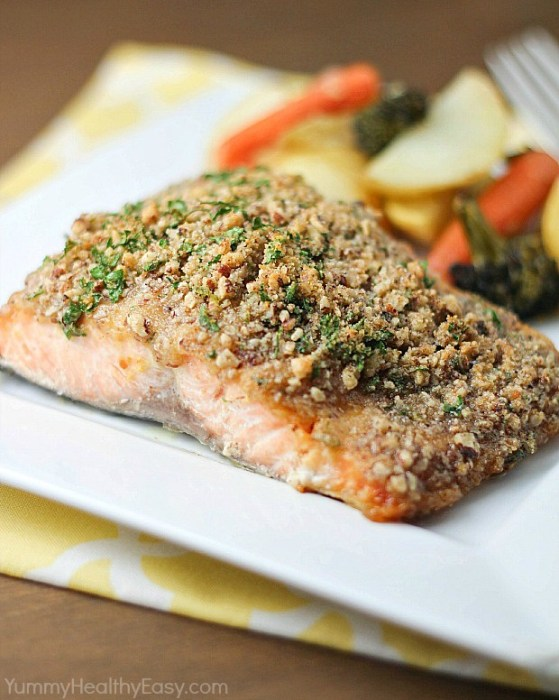 Pecan Crusted Honey Mustard Salmon