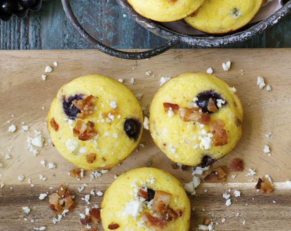 Blueberry Bacon Corn Muffins