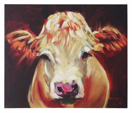 Maggie Moo Cow Canvas www.gincreekkitchen.com