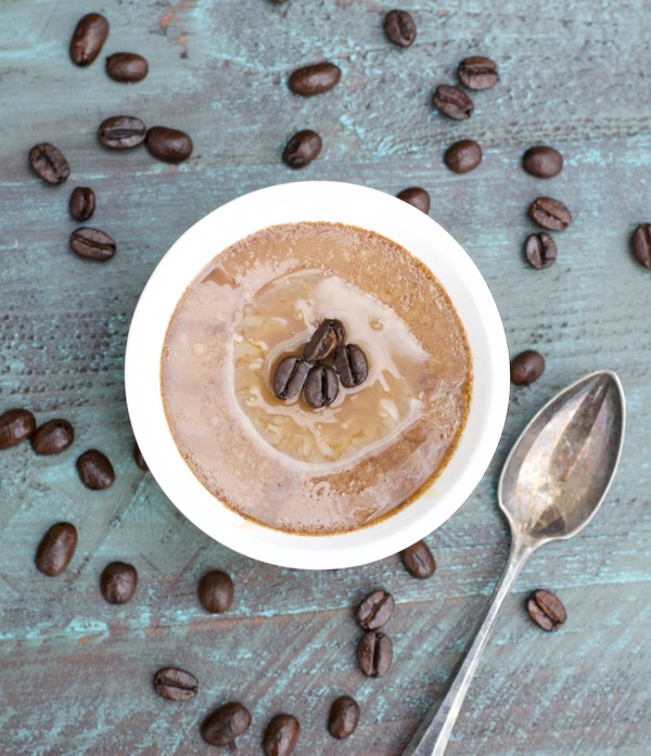 Skinny Caramel Macchiato Mocha Custard! Gluten free and under 150 calories! #ZingBakingHoliday #sponsored