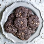 Dark Chocolate Peppermint Cookies {gluten free}