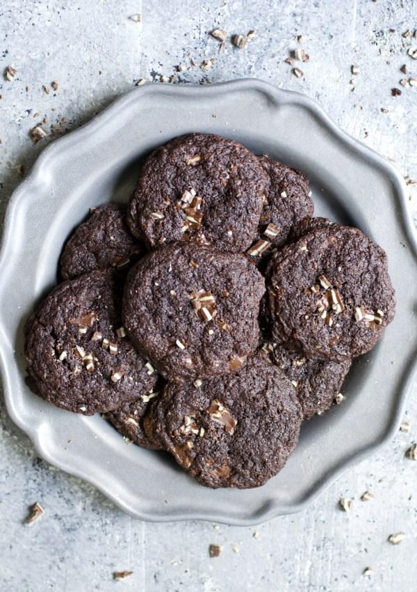 Dark Chocolate Peppermint Cookies {gluten free}