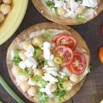 Mediterranean Hummus Tostadas