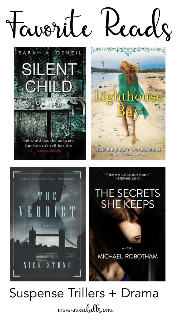 Great books for those who love suspense thrillers and dramas! #bookclub #books