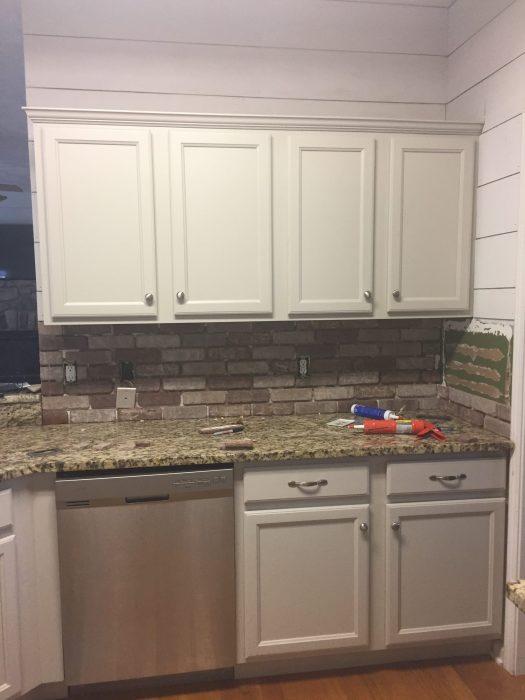 Brick Backsplash In Kitchen | Easy Diy Brick Backsplash Maebells