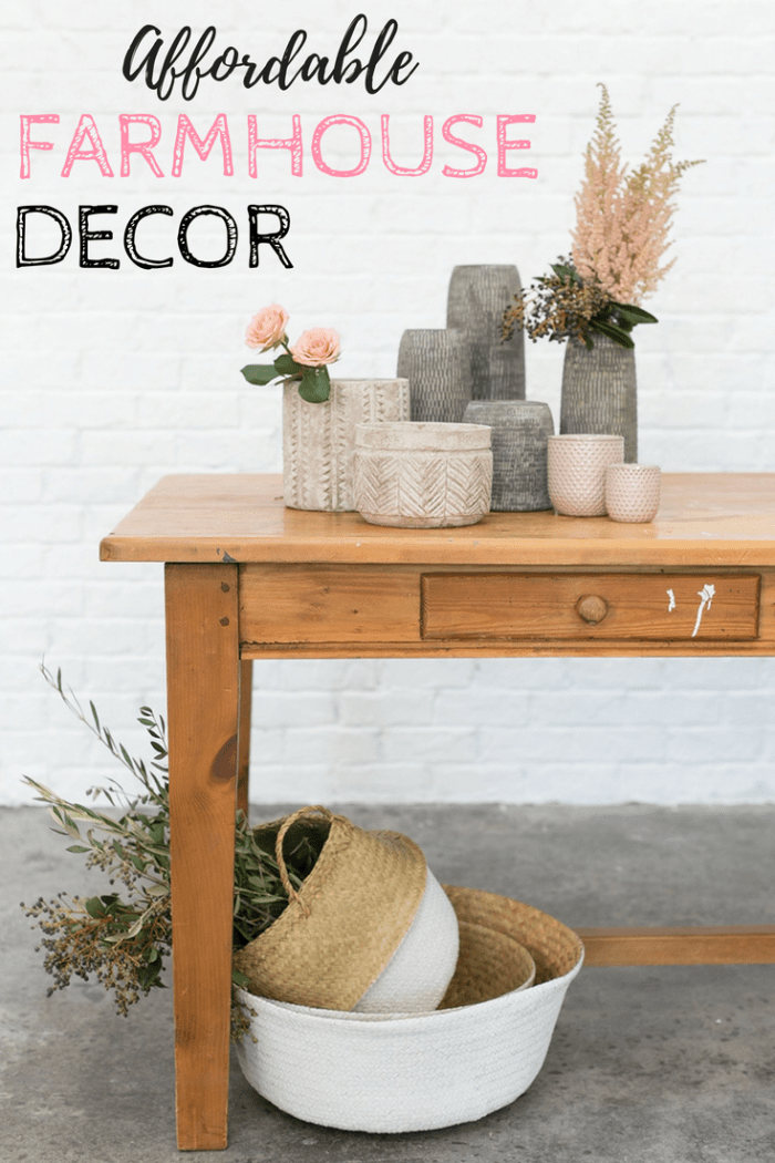 Easy Ways to add Farmhouse Style on a Budget! Affordable farmhouse decor perfect for creating the Fixer Upper look! #fixerupper