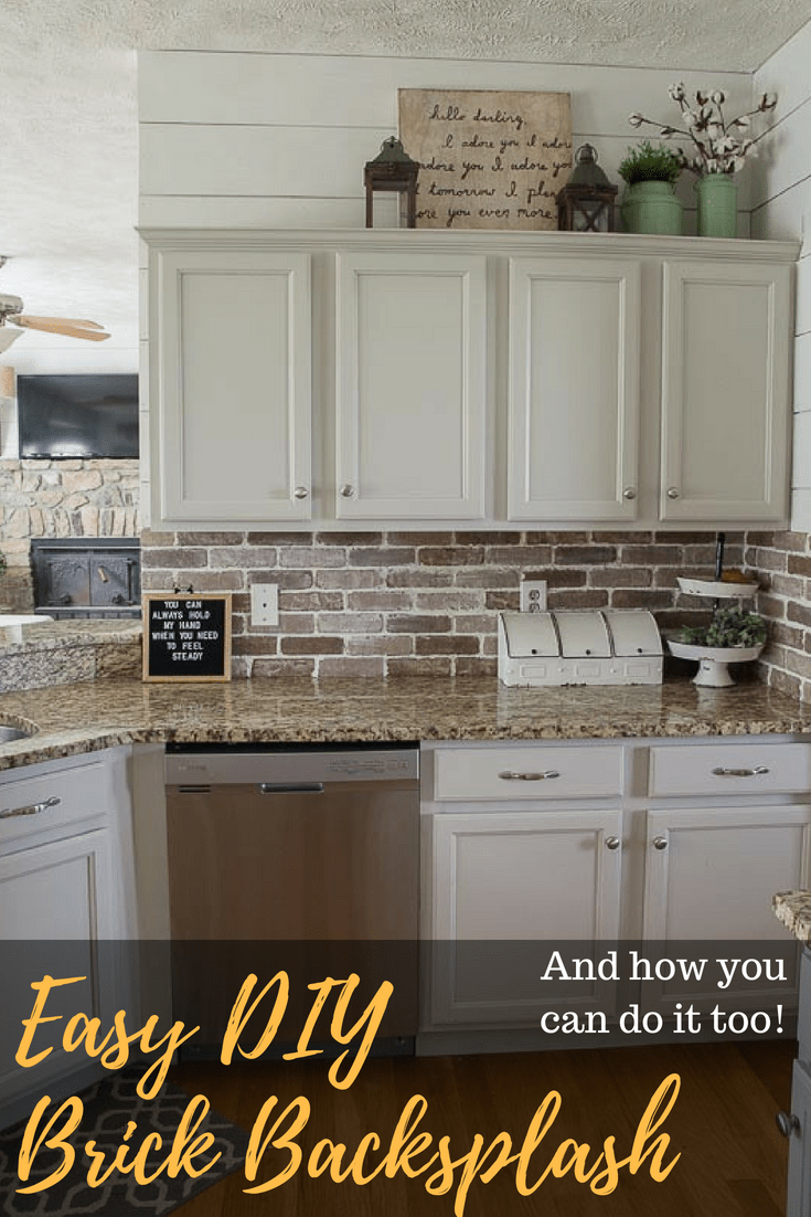 - Easy DIY Brick Backsplash - Maebells