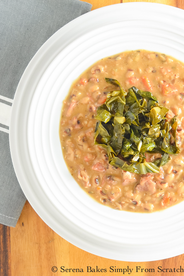 Ham Black-Eyed Pea Soup with Collard Greens