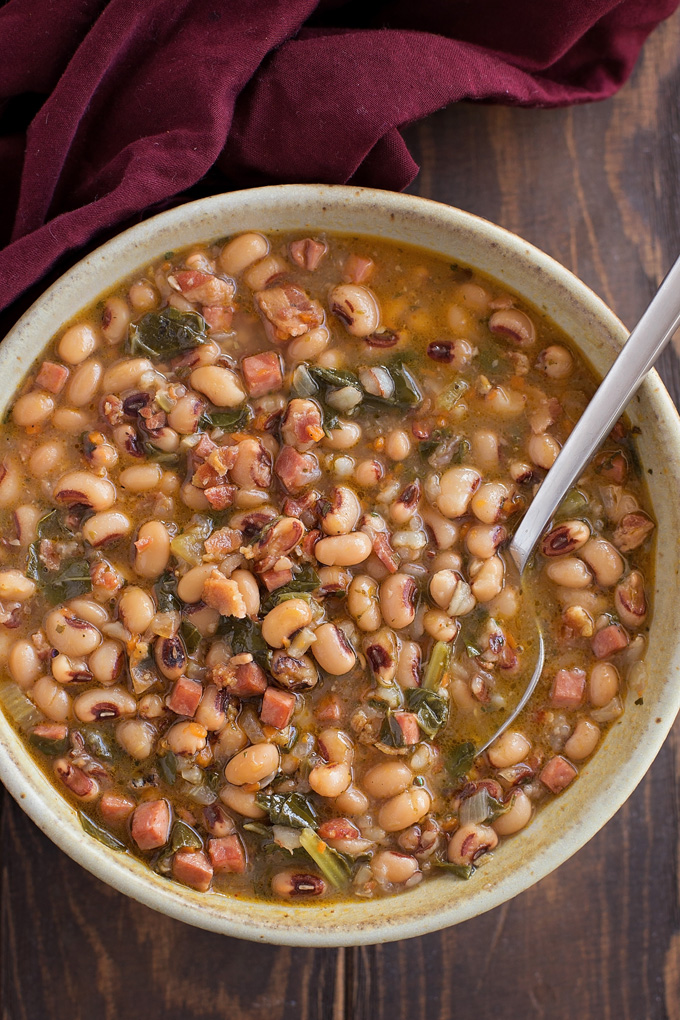 A modern twist on a southern classic! This Instant Pot black eyed pea soup is chock-full of all the fixings, only it's ready to go in half the time!