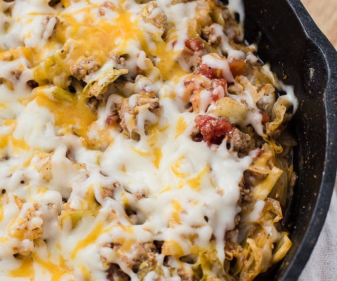 One Pan Cabbage Casserole